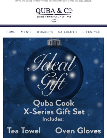 The ideal gift for all Quba Cooks!