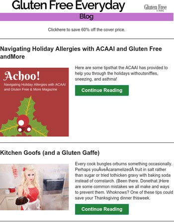 Achoo. Navigate Holiday Allergies with ACAAI and Gluten Free and More