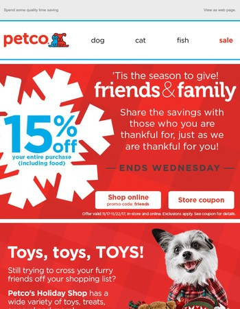 Sharing is caring! 15% off + toy toys toys!