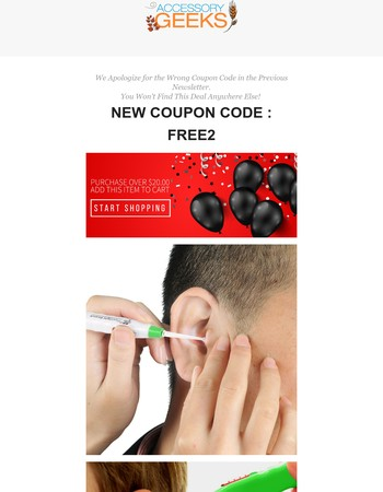 Mary ! [Coupon Code : FREE2 ] Catch a Free Black Friday Deal on LED Ear Pick + Free Shipping