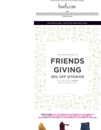 Friendsgiving Sale Ends Tonight!