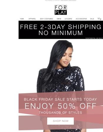 Black Friday Sale Starts NOW!