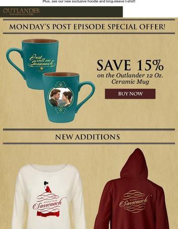 Monday's Outlander post-episode special offer!