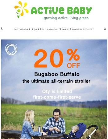 OMG! Bugaboo Buffalo is 20% OFF!