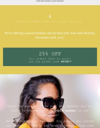 Eyewear Envy | Holiday Sale Starts Today