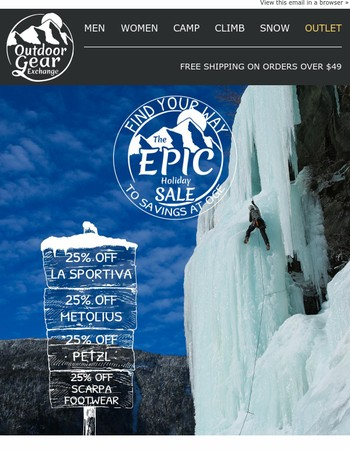 Climbers, check out these epic holiday savings!