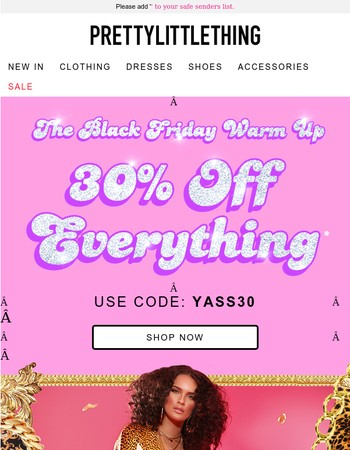30% off everything...  the pre-party starts now