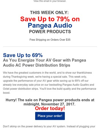 This Week Only: Save Up to 79% on Pangea Audio Power Products