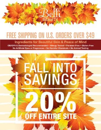 20% OFF- Fall Into Savings!