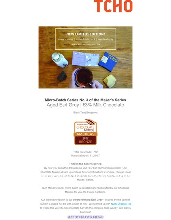 NEW!! Limited Edition Maker's Series | Aged Earl Grey