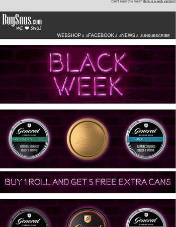 General Black Week Special!