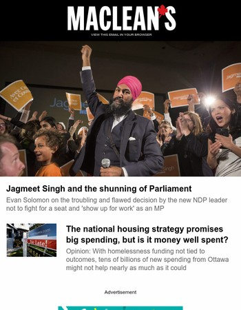 Why won't Jagmeet Singh run for a seat in Parliament?