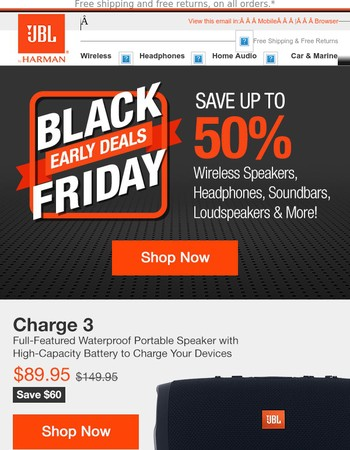 Pre-Black Friday Savings up to 50% Start Now!