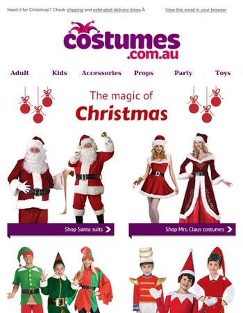 Great costume ideas for a very merry Christmas.