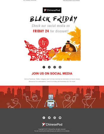 Get your discount this Black Friday!