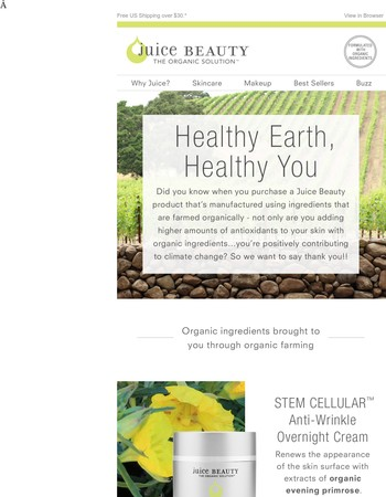 Healthy Earth, Healthy You - The Benefits of Organic Ingredients