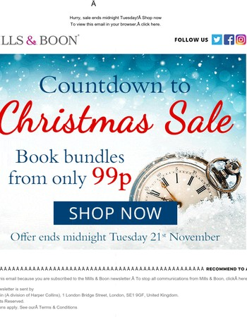 Reader, sale ends tonight! Grab a book bundle from only 99p