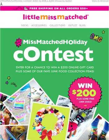 Enter to WIN $200 Now! Show Us Your #MissMatched Holiday Style