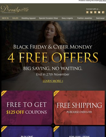 4 FREE Offers For Black Friday, Big Saving, No Waiting.