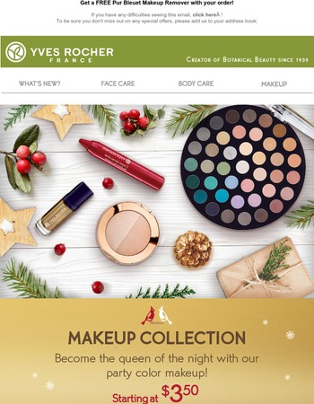 ✨ Holiday Makeup collection starting at $3,50!