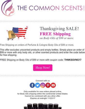 Thanksgiving Sale: FREE Shipping!