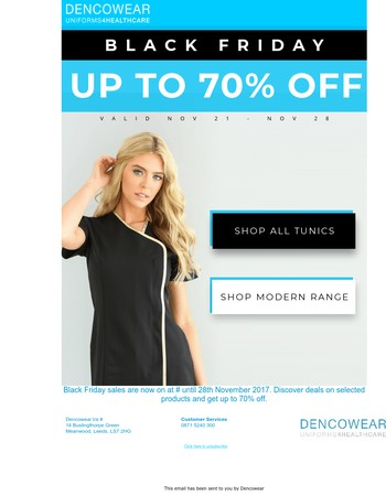 Exclusive Black Friday Deals! Up to 70 percent off