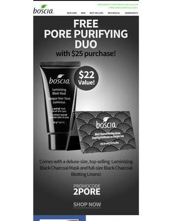 LAST CHANCE! FREE Pore Purifying Duo with $25 purchase!
