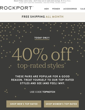 Another Black Friday Deal - 40% off Top-rated!