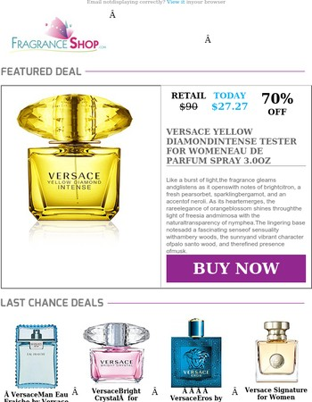 CLEARANCE  ➜  Versace Fragrances up to 70% Off - This Week Only
