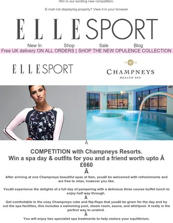 Win a Champneys spa day & outfits for you & a friend