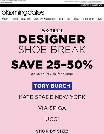 Save 25-50% on Your Favorite Women's Designers