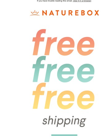 Use your FREE shipping promo code now!