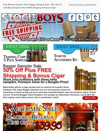 This Week's Smokin' Deal: Bagger Sampler Sale