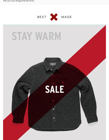 Starting Now: The Annual Stay Warm Sale
