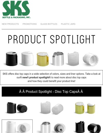Product Spotlight on Disc Top Caps!