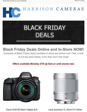 Why wait until Friday? Shop Black Friday Deals NOW