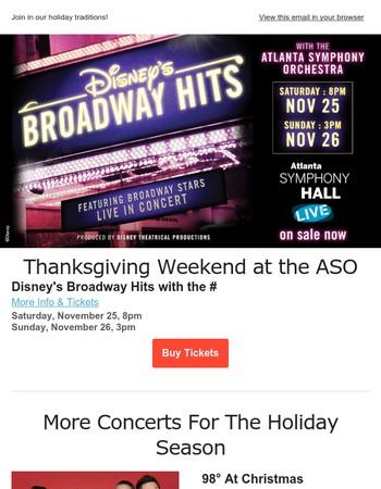 Disney's Broadway Hits This Thanksgiving Weekend