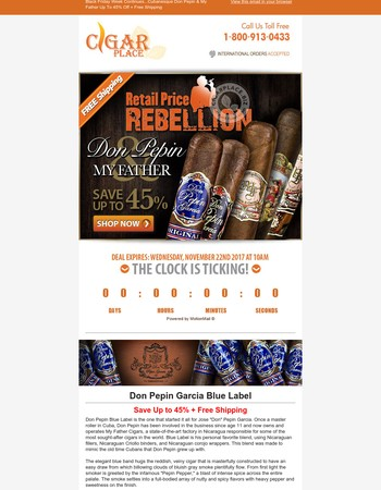 Retail Rebellion: Up To 45% Off Don Pepin & My Father + $1 Shipping Site-Wide!