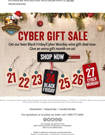 Cyber Gift Sale Starts Now!