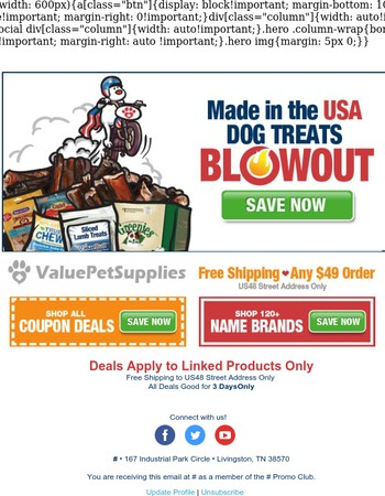 USA Dog Treats - Yankee Doodle Deals