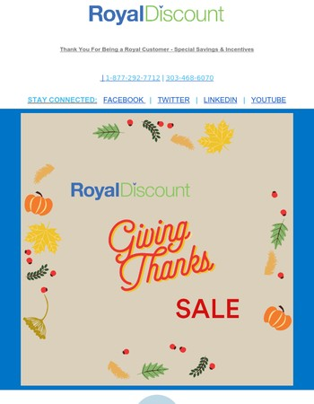 Special Coupons from Microsoft + Royal - Happy Thanksgiving Savings!