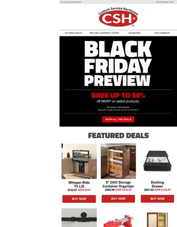 Your first look at Black Friday deals - save up to 50%!