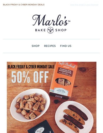 It's That Time Of The Year Again....50% Off At Marlo's Bakeshop!