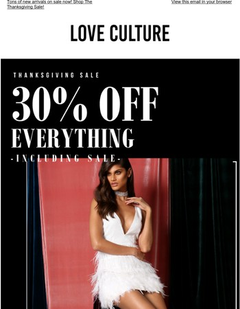 Thanksgiving Sale - 30% Off EVERYTHING
