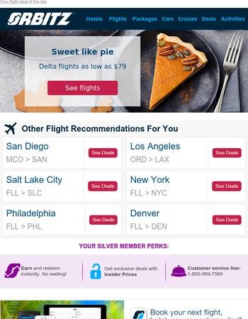 Delta flights as low as $79 RT