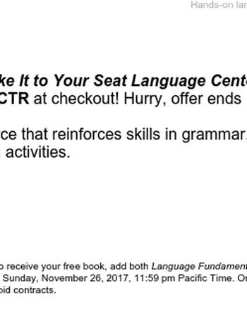 BOGO: Buy Language Fundamentals and get the corresponding Language Centers!