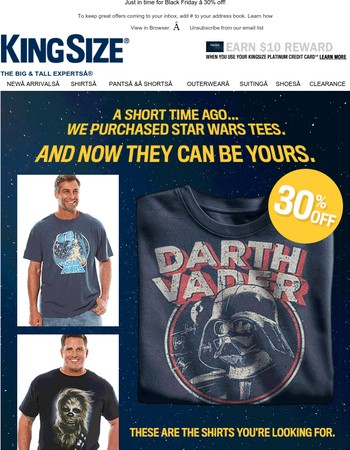 May the Force Be With You! Star Wars Tees are here!