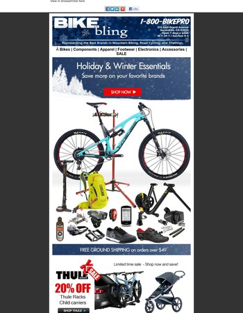 The Wonder Guide Expanded | 25% Off NiteRider, Camelbak & Shimano Shoes | 20% Off Thule, CycleOps, Smith & Troy Lee