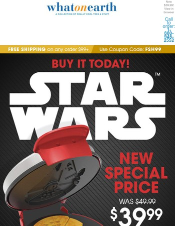 Millennium Falcon waffles newly reduced price