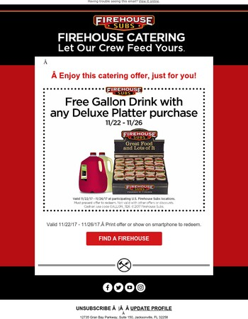 We have a special catering offer for you!